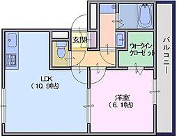 リビングタウン天理A棟[2階]の間取り
