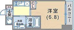 ファーストフィオーレ神戸元町 11階1Kの間取り