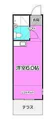 埼玉県所沢市上新井2丁目の賃貸アパートの間取り