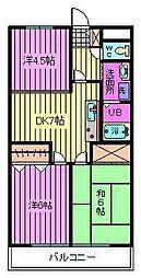 メゾンサイブ[1階]の間取り