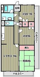 M・アビデ[6階]の間取り