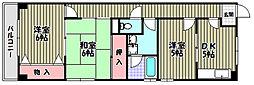 エトワール奥野[3階]の間取り
