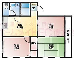 サンネクスト遠賀野[3階]の間取り