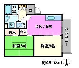 ロイヤルエステート[1階]の間取り