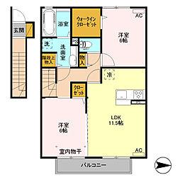 (仮)D-room高井町[202号室]の間取り