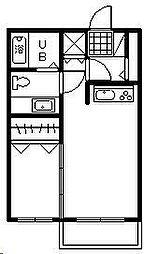 エランビタールNAKANISHI III棟[110号室]の間取り