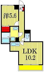 千葉県船橋市駿河台1丁目の賃貸アパートの間取り