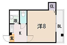 サンライフ近江堂[1階]の間取り