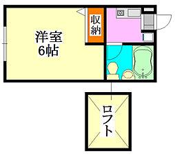 コーポY[1階]の間取り