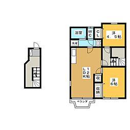 フォルトゥーナ B[2階]の間取り