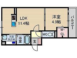 モン・シェモワ[2階]の間取り
