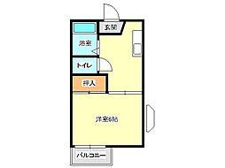 兵庫県神戸市垂水区南多聞台3丁目の賃貸アパートの間取り