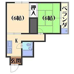 フルハウス84[102号室]の間取り