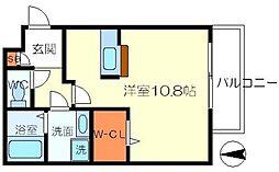 ヘーベル小野原西[1階]の間取り