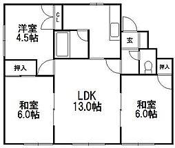 パークマンション1[105号室]の間取り