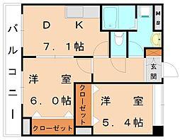 ミレニアム2[2階]の間取り
