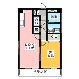アゼリアガーデン  北館[2階]の間取り
