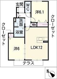 サイドセブン A棟[1階]の間取り