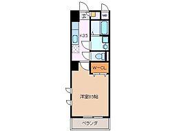 ミ・カーサ・キタ 8階1Kの間取り