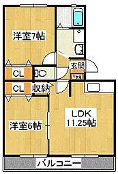 キャロルステージISHII[3階]の間取り