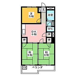 コーポ藤村[3階]の間取り