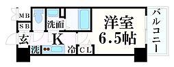 JR東海道・山陽本線 神戸駅 徒歩4分の賃貸マンション 4階1Kの間取り