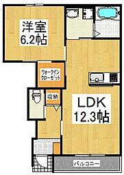 志木市上宗岡4丁目アパート新築工事[1階]の間取り