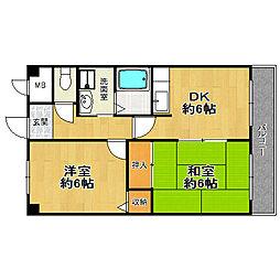 佃第一ローズマンション[5階]の間取り