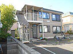 北海道江別市見晴台の賃貸アパートの外観