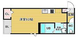 広島県広島市南区東雲1丁目の賃貸アパートの間取り