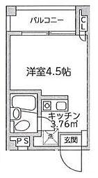 東京都大田区西糀谷3の賃貸マンションの間取り