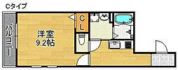 ソレイユ聖天下C[3階]の間取り