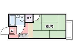 山本ハイツ B棟[A102号室]の間取り