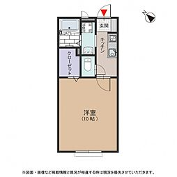 カーサ ソレーユ[1階]の間取り