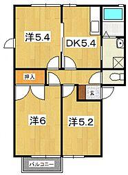 エスポワールハイツ(田島)[201号室号室]の間取り