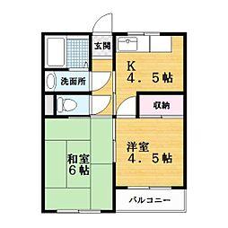 メゾン三栄[3階]の間取り