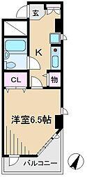 ビーケーワンフラット[2階]の間取り