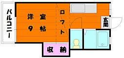 ミカサイン香住ヶ丘A[2階]の間取り