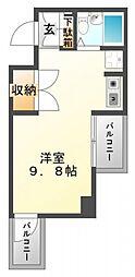 東明マンション江坂[5階]の間取り