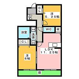 エルメゾンA棟[1階]の間取り