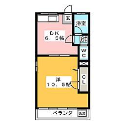 第1辰巳野マンション[2階]の間取り