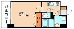 JR博多南線 博多南駅 徒歩13分の賃貸マンション 2階1Kの間取り
