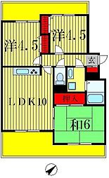 松戸ハイツ第一[3階]の間取り
