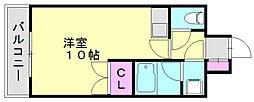 メルパーク香華2[2階]の間取り