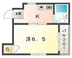 ドミール風物語[4階]の間取り