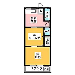 東和荘[2階]の間取り
