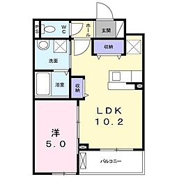 南清和園町アパート[0203号室]の間取り