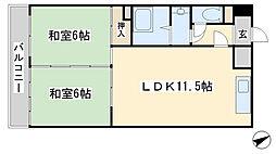 アスティー別院[2階]の間取り