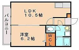 ドアーズ南福岡[2階]の間取り