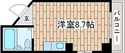 兵庫県神戸市中央区橘通2丁目の賃貸マンションの間取り